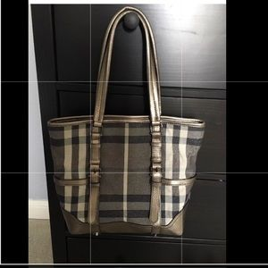 Authentic Burberry Shimmer Tote