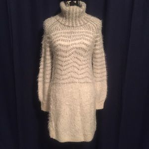 👗 Sleeping In Snow eyelash sweater dress