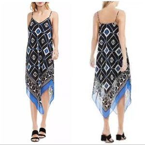 Vince Camuto Size PXS Graphic Slip Dress Deep Sky