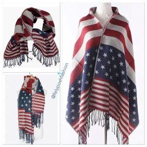 American Flag Scarf with Tassel