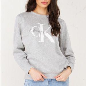 Calvin Klein Grey White Sweatshirt M
