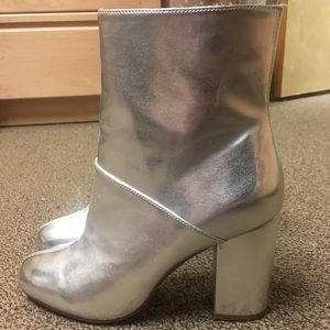 Urban Outfitters Silver Boots