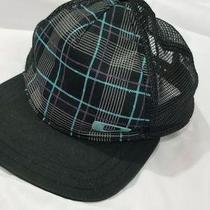Blue and Black Plaid Oakley Snap Back Hat