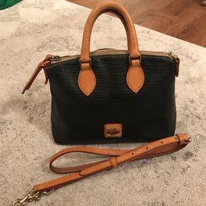 Dooney & Bourke black leather crossbody satchel