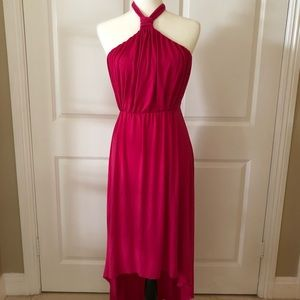Magenta, Backless High-Low Dress