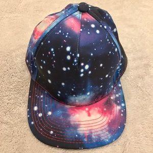 Blue Galaxy/Celestial Flat-brim Hat