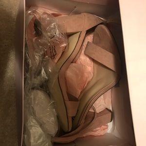 Wide wedge heels