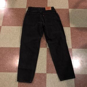 Vtg Levi 550 tapered Black highwaisted Jeans 8