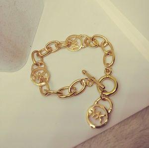 Jewelry - Gold MK logo bracelet