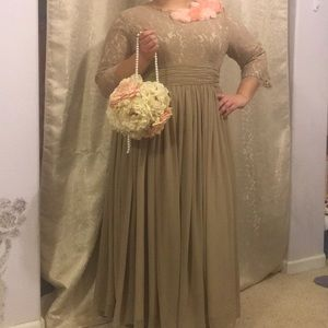 Dainty Jewel's Tan Dress