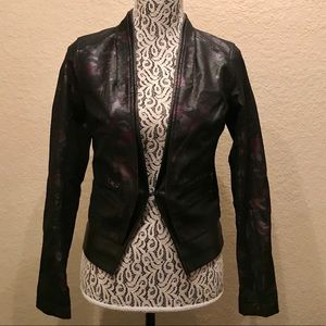 GUESS Leather Blazer