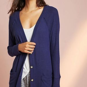 Anthropologie Knit Pocket Cardigan Sweater Buttons