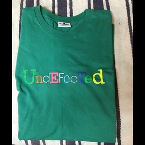 Undefeated Green Short Sleeved T-shirt