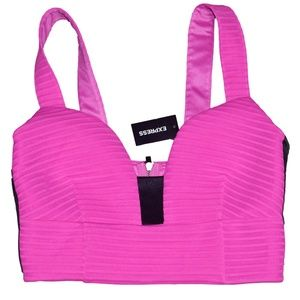NWT Hot Pink Crop Top by Express Size Small