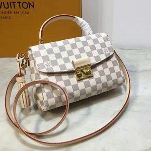 Louis Vuitton White Leather Shoulder Bag