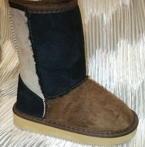 Girl's Multicolor Faux Suede/Faux Fur Winter Boots