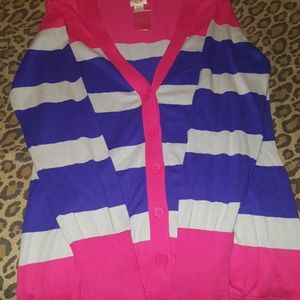 Brand NWOT XL striped cardigan