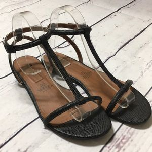 H&M Black Ankle Strap Sandals