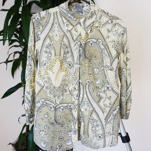 Ann Taylor Paisley Button Down