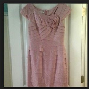 adrianna papell pink dress new without tags