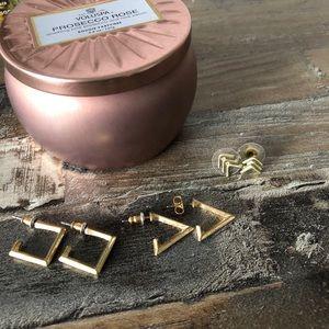 Jewelry - Set of 3 Gold Earrings