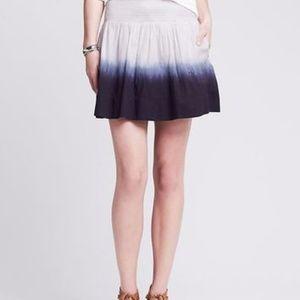 Banana Republic Dip Tie Dye Mini Skirt BLUE WHITE