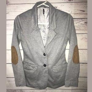 Check & stripe anthropologie western blazer L