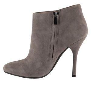 Slightly new Aldo grey suede ankle heels