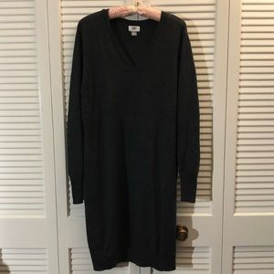 Old Navy XL Tall Charcoal V-Neck Sweater Dress