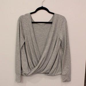 Victoria Secret Gray Wrap Top