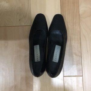 Bandolino black crocodile skin heels