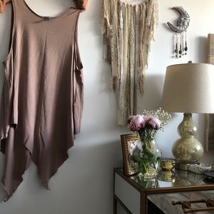 Dusty Pink Long Muscle Tee
