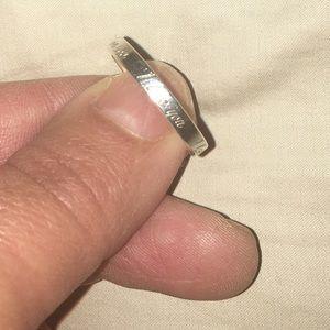 Tiffany I love you ring. Size 7