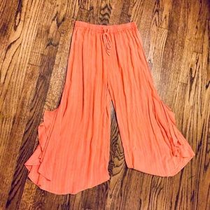 Anthropologie Lilka Cropped Wide Leg Culottes