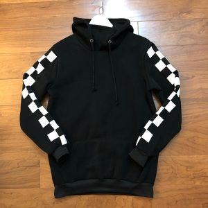 New Checkerboard Black Hoodie