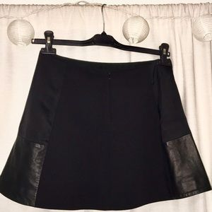 Rag & Bone Black Leather Panel Miniskirt