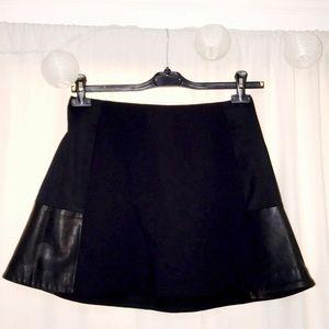 Rag & Bone Black Leather Panel Skirt