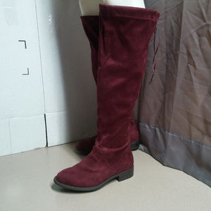 Torrid Faux Suede Bellow Knee Boots