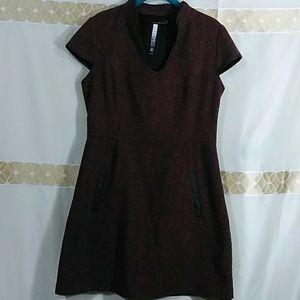 Wool tweed dress I-506