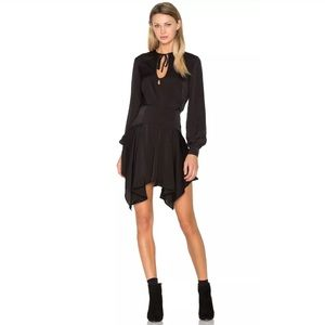 {FINDERS} Long Sleeve Asymmetrical Hem Dress