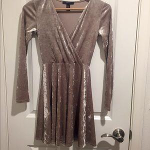 Velvet long sleeve dress.