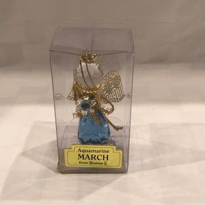 Birth month March Angel Ornament