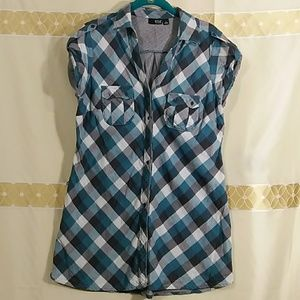 Plaid shirt  dress I-505
