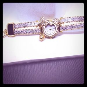 BRAND NEW IN!!! Silver & Gold Love Watch