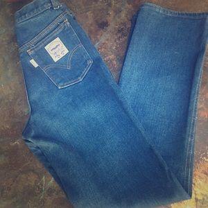 vintage white tab big E Levi's jeans