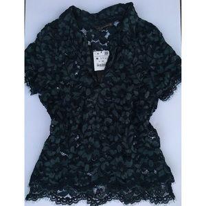 ZARA✨ lace detail blouse