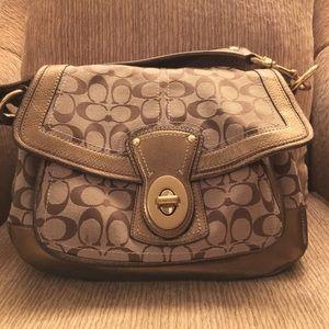 65th Anniversary Coach Legacy Ali flap handbag