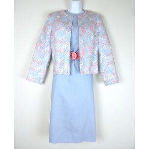 Vtg 70s MARGARET SMITH Dress/Jacket Fairy Pastels