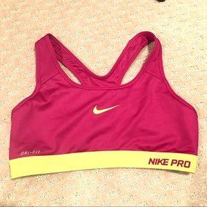 Nike Pro Dri-Fit Magenta Sports Bra M💕