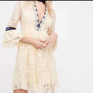 NWT Sz 0 gilded lace minidress
